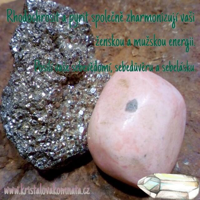 Pyrit + rhodochrosit