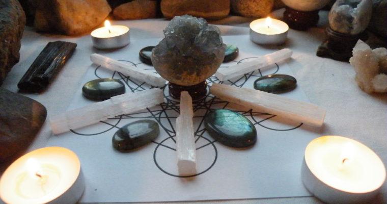 Krystalová mřížka pro harmonii a vnitřní mír