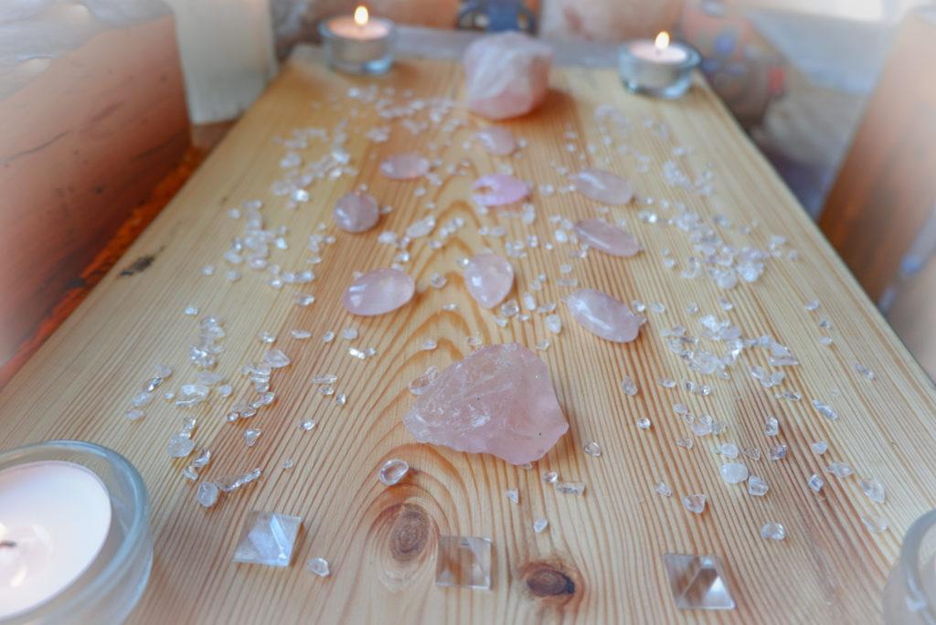 krystalová mřížka růženín
