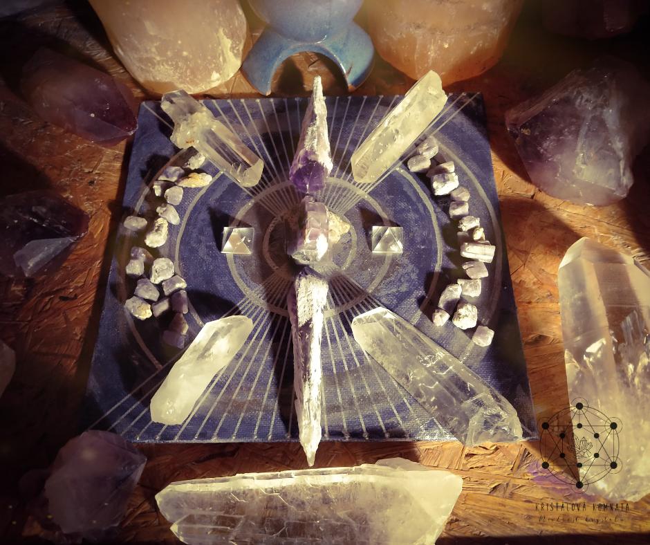 Krystalová mřížka pro tvoření vlastní reality