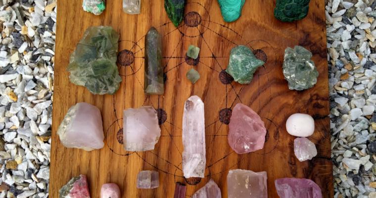 Základy práce s energií krystalů – Srdeční čakra