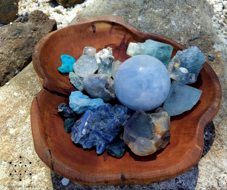 Základy práce s energií krystalů – Krční čakra